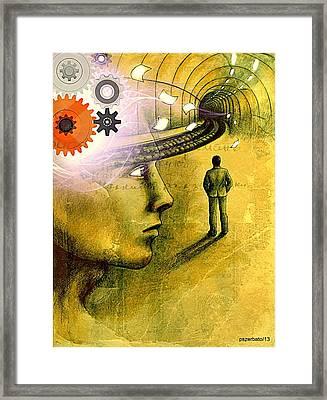 Wisdom Underground - Healing Through Understanding Framed Print