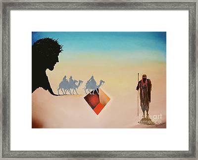 Wise Men Still Seek Him Framed Print by Peter Olsen
