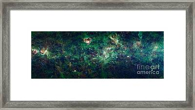 Wise Mosaic Of The Milky Way Framed Print by Science Source