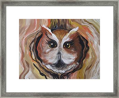 Wise Ole Owl Framed Print by Leslie Manley
