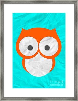 Wise Owl Framed Print by Henrietta Buwalda