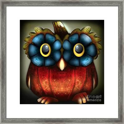 Wise Pumpkin Owl Framed Print
