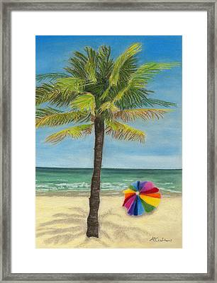 Framed Print featuring the painting Wish I Was There by Arlene Crafton
