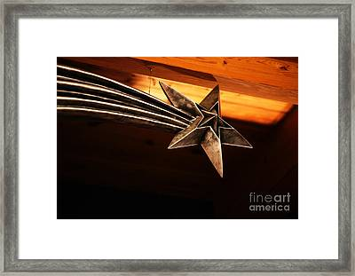 Wish Upon A Shooting Star Framed Print by Linda Shafer