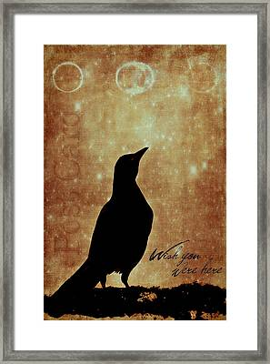 Wish You Were Here 1 Framed Print by Carol Leigh