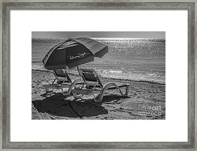 Wish You Were Here - Higgs Beach - Key West - Black And White Framed Print by Ian Monk