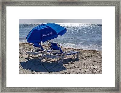 Wish You Were Here - Higgs Beach - Key West Framed Print by Ian Monk