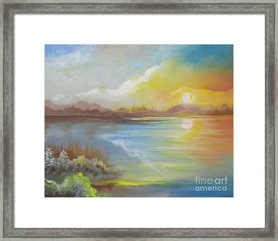 Framed Print featuring the painting Wish You Were Here. by Nereida Rodriguez