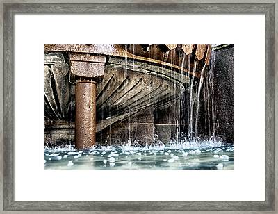 Wishes And Bubbles Fountain Framed Print by Georgia Fowler