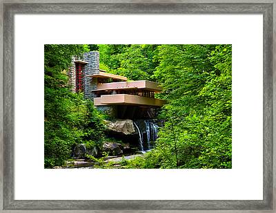 Wishes On Fallingwater Too Framed Print by Rachel Cohen