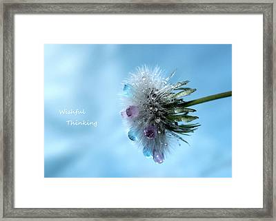 Wishful Thinking Framed Print by Krissy Katsimbras
