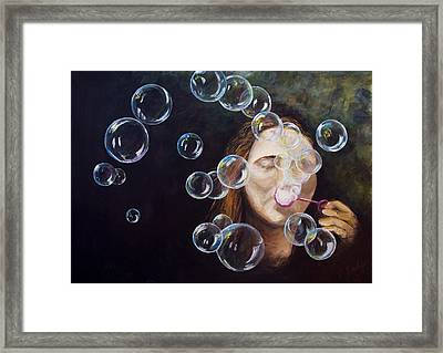 Wishing Bubbles Framed Print
