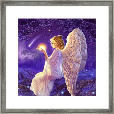 Wishing Star Variant 2 Framed Print by Andrew Farley