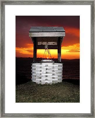 Wishing Well Framed Print by Donnie Freeman