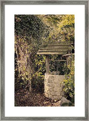 Wishing Well Framed Print by Heather Applegate