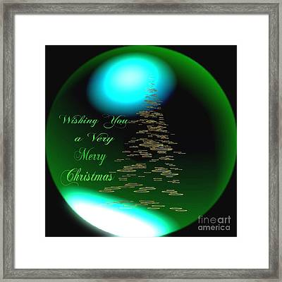 Wishing You A Very Merry Chrirstmas  Framed Print by Gail Matthews