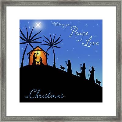 Wishing You Peace - Shepherds Framed Print by P.s. Art Studios