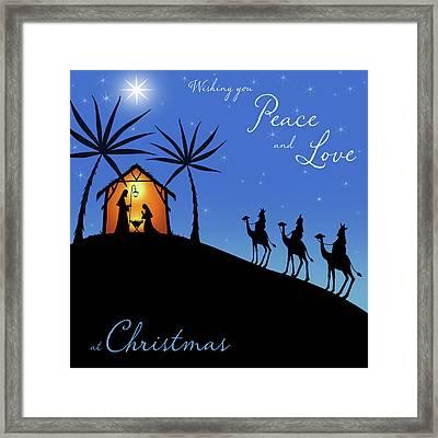 Wishing You Peace - Wisemen Framed Print by P.s. Art Studios
