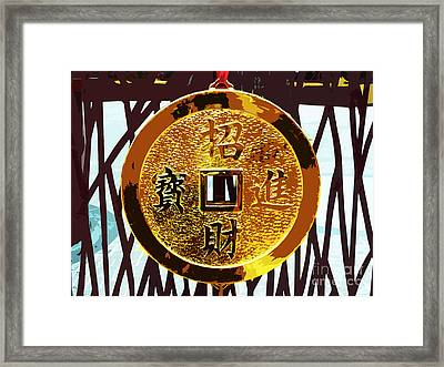 Wishing You Wealth Framed Print