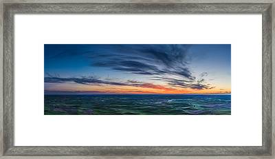 Wispy Clouds Above The Palouse Framed Print by Dan Mihai