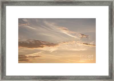 Wispy Sunset Framed Print by Debi Dmytryshyn