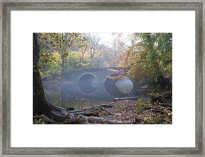Wissahickon Creek And Bells Mill Road Bridge Framed Print by Bill Cannon