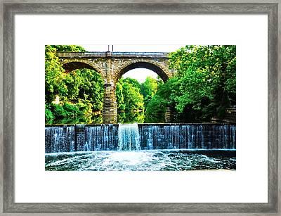 Wissahickon Falls Framed Print by Bill Cannon