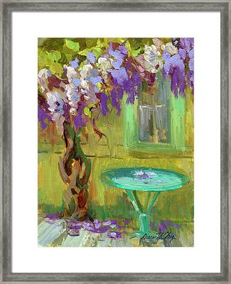 Wisteria At Hotel Baudy Framed Print by Diane McClary