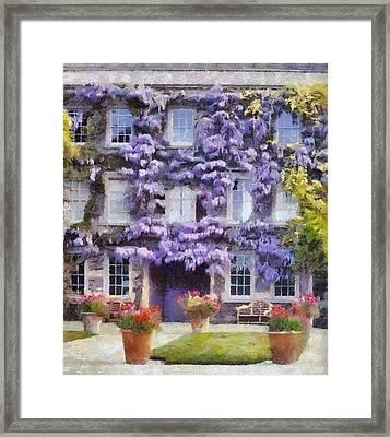 Wisteria Covered House Framed Print by Desmond De Jager
