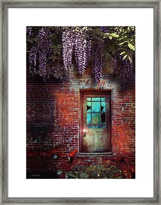 Wisteria Door Framed Print