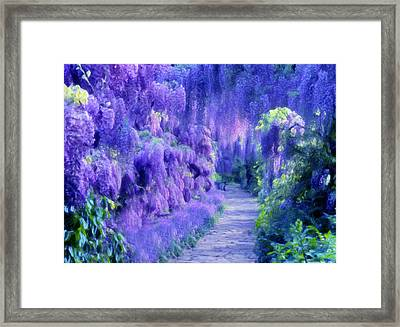 Wisteria Dreams Impressionism Framed Print by Georgiana Romanovna