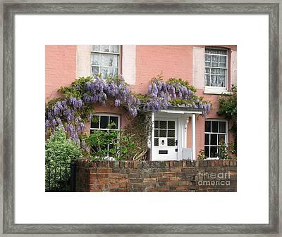 Wisteria House Framed Print by Ann Horn