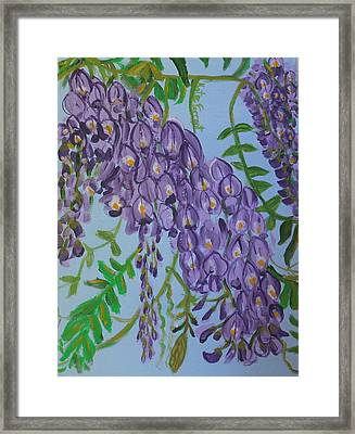 Purple Flowers Framed Print by Kate Farrant
