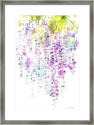 Wisteria Watercolor Version Framed Print