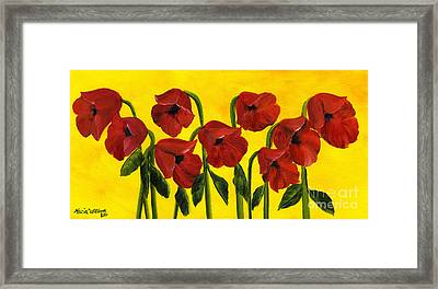 Wistful Poppies Framed Print by Maria Williams