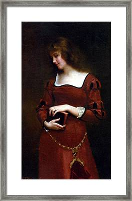Wistful Thoughts Framed Print by Gustave Jean Jacquet