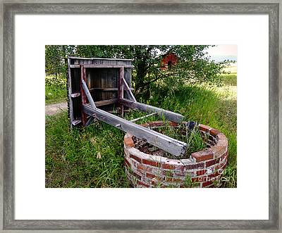 Wistful Well Framed Print