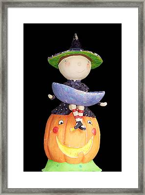 Witch And Pumpkin  Framed Print by Aimee L Maher Photography and Art Visit ALMGallerydotcom