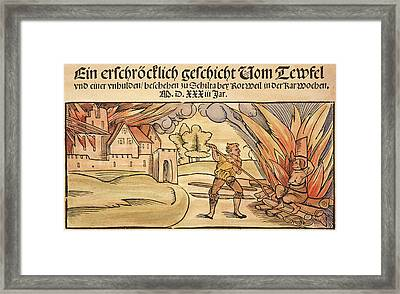 Witch Burning, 1533 Framed Print