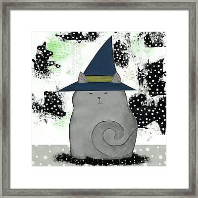 Witch Cat Framed Print by Sarah Ogren