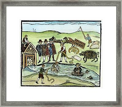 Witch Dipping Framed Print