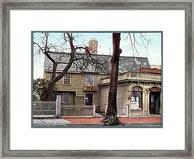 Witch House Framed Print by Library Of Congress