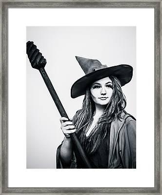 Witch  Framed Print by Pamela Schreckengost