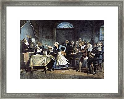 Witch Trial Framed Print by Granger