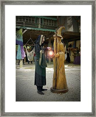 Witch Vs Wizard Framed Print by Brian Wallace