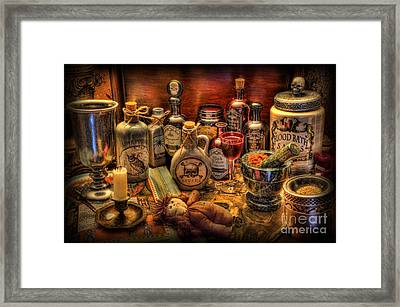 Witchcraft And Alchemy - Halloween Framed Print by Lee Dos Santos