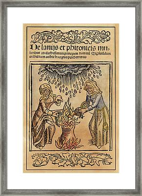 Witches, 1489 Framed Print by Granger