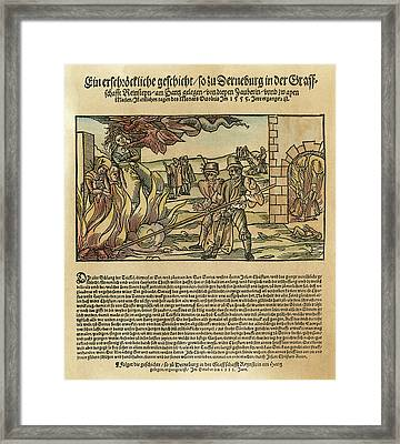 Witches, 1555 Framed Print by Granger