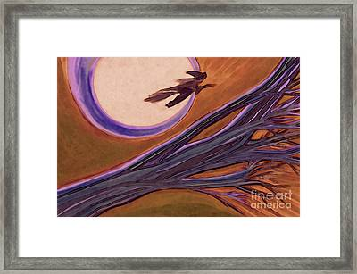 Witches' Branch Purple Framed Print