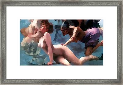 Witches Going To Their Sabbath Detail Framed Print by Luis Ricardo Falero